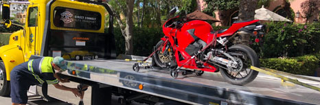 Motorcycle Shipping on Flatbed Truck