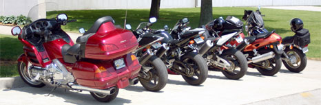 Motorcycles Standing