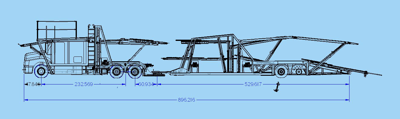 Open Auto Transport Trailer Schematic