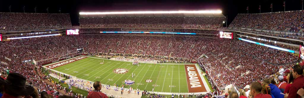 Be sure to catch a game at Bryant-Denny stadium, home of the Alabama Crimson Tide football team, the next time you visit Tuscaloosa, Alabama.