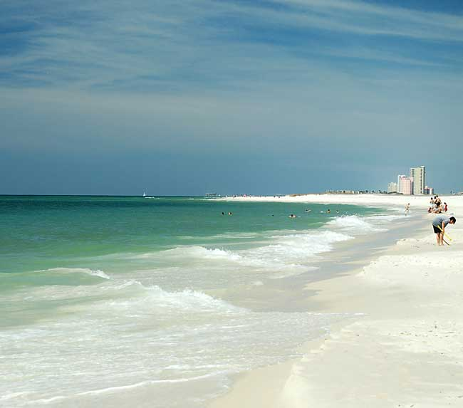 Alabama Gulf State Park is a favorite destination for tourists and beach-goers in Alabama.