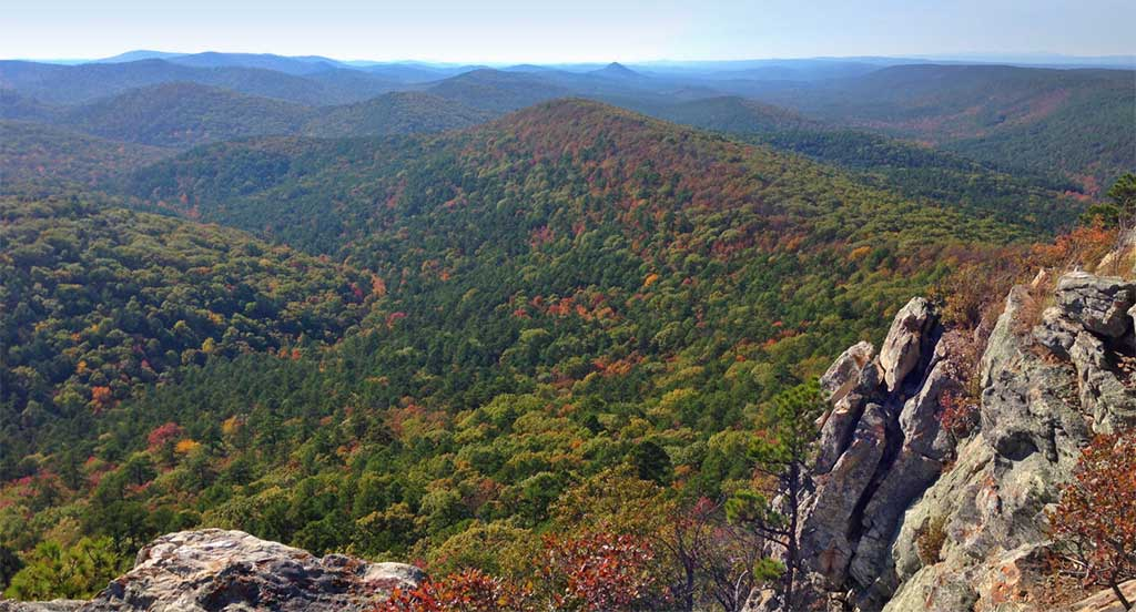 Explore the Ouachita Mountains as you travel through Arkansas.
