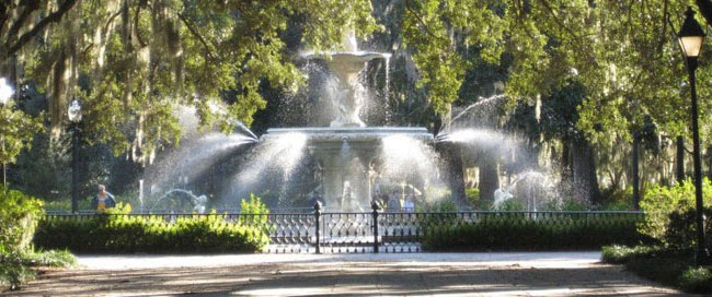 Go see the Forsyth Park fountain when you visit Savannah, Georgia