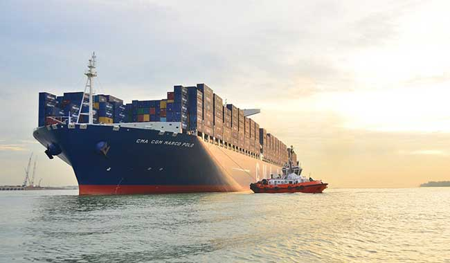 Cars are shipped to Hawaii's Honolulu harbor by container ships