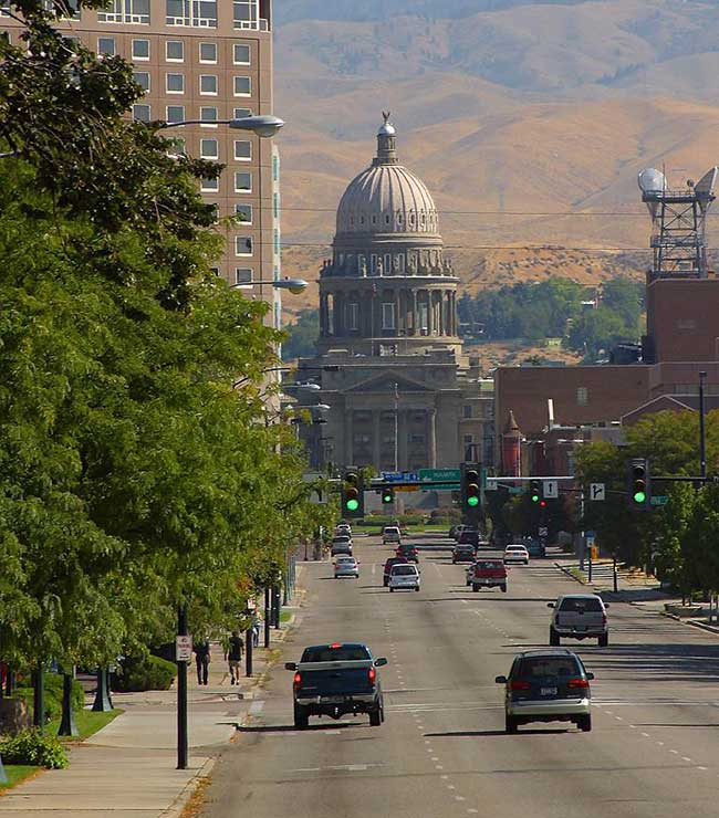 Be sure to stop by the capitol building in Boise, Idaho when traveling through the state.