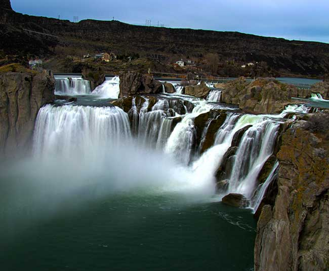 Shoshone Falls in Idaho is a great place to visit when you're in Idaho.
