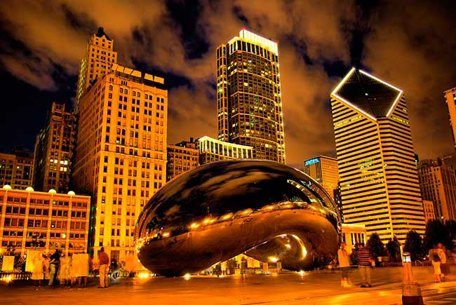 Be sure to stop by the famous Cloud Gate sculpture in Chicago next time you are in Illinois.