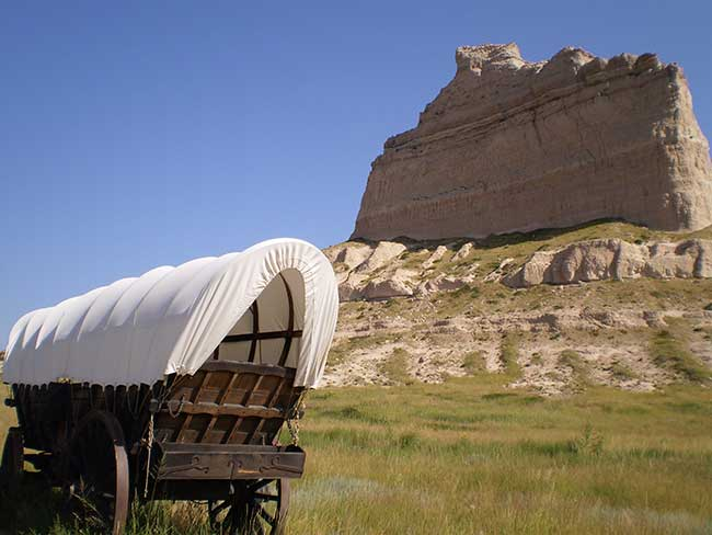 Check out Scotts Bluff National Monument when you visit Nebraska.