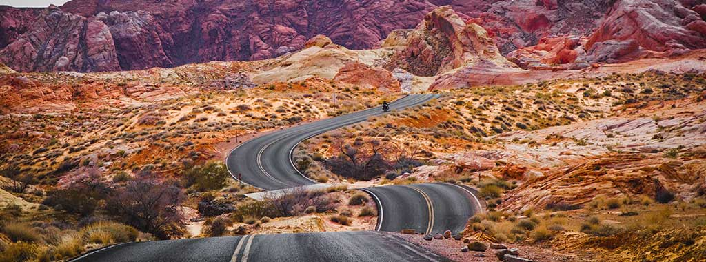 Be sure to travel Nevada's countryside which has many winding roads that criss-cross through the dessert.
