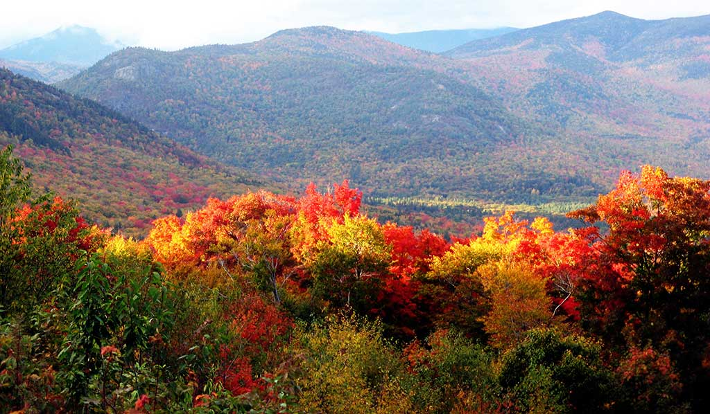 New Hampshire is a great place to see the Fall Foliage as you are driving through.