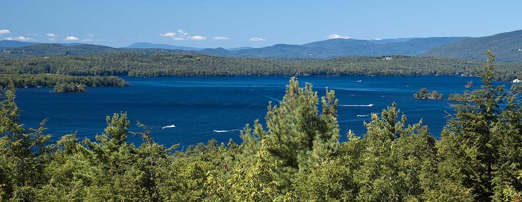 Be sure to see Lake Winnipesaukee and the Ossipee Mountains as you travel through New Hampshire.