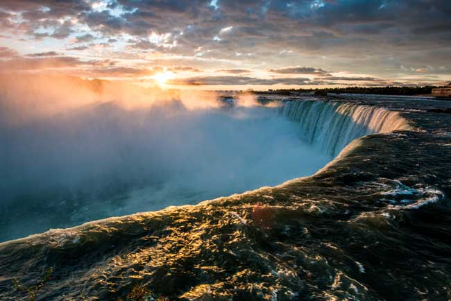 Not far from Buffalo is Niagara Falls, one of the largest waterfalls in the world.