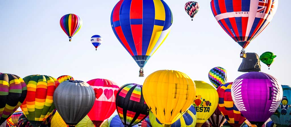 Be sure to attend the annual Albuquerque Balloon Fiesta when you visit New Mexico.