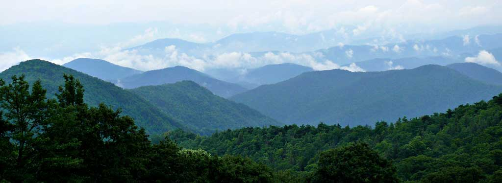 Be sure to visit the Great Smokey Mountains of North Carolina when you're traveling through the state.