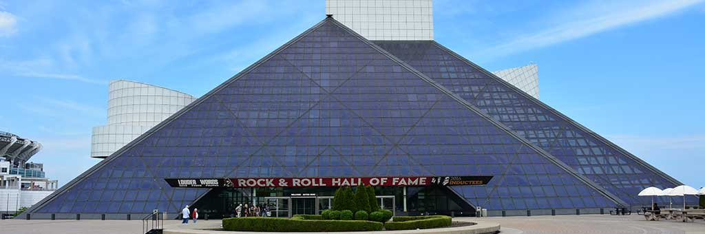 Stop by the Rock and Roll Hall of Fame in Cleveland when you visit Ohio.