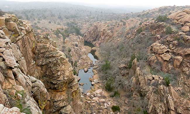 Visit the scenic Wichita Mountains Narrows in Oklahoma the next time you drive through the state.