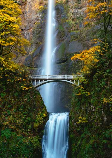 Visit the beautiful Multnomah Falls just 30 miles outside of Portland, OR.
