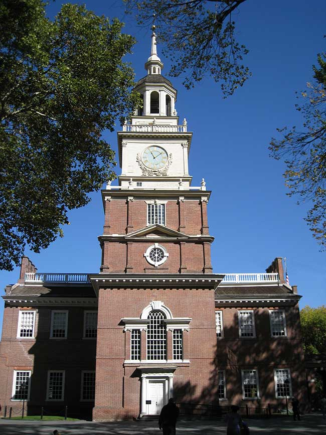 Visit Independence Hall where the Declaration of Independence and Constitution were written.