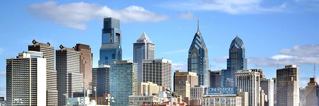 Philadelphia's skyline has been welcoming visitors as they drive through Pennsylvania.