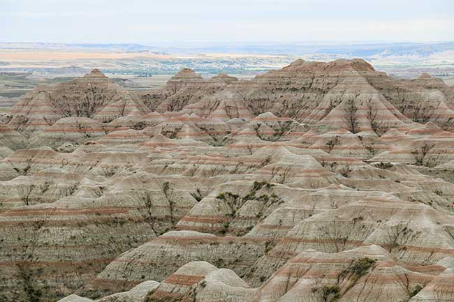 Visit the Badlands National Park when you drive through South Dakota.