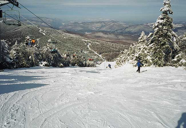 Hit the slopes at Killington Mountain in Vermont, the largest ski area in the East.