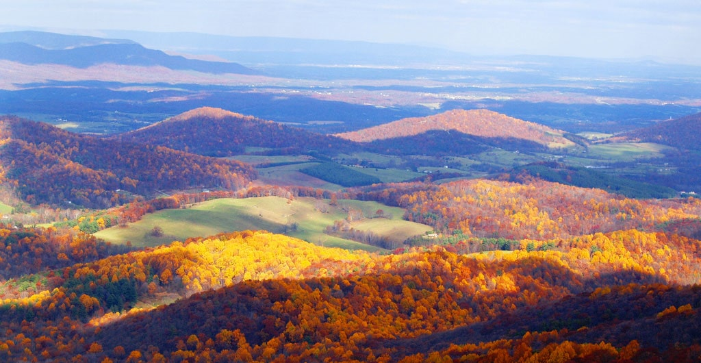 Explore the mountain countryside of Virginia as you travel along the Appalachian Mountains