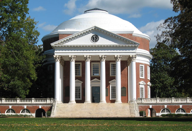 Check out the Rotunda when visiting the University of Virginia campus