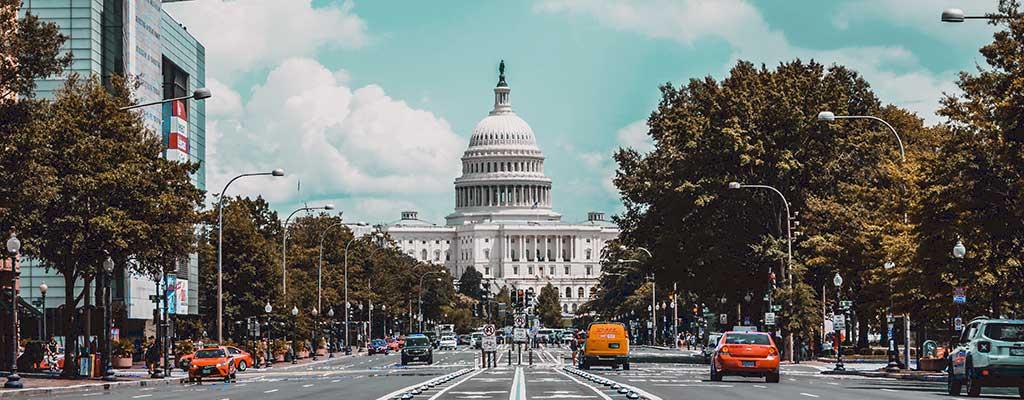 Drive past the Capitol Building when you travel through Washington DC